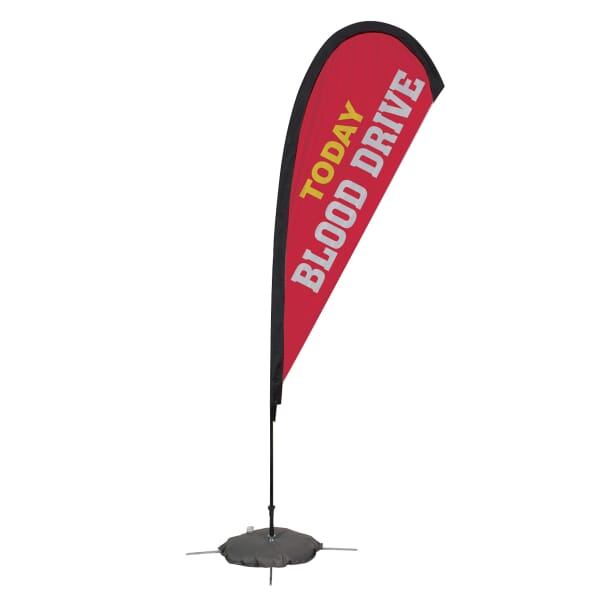 8ft Tear Drop Sail Sign-Single Side