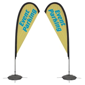 8ft Tear Drop Sail Sign-Double Sided