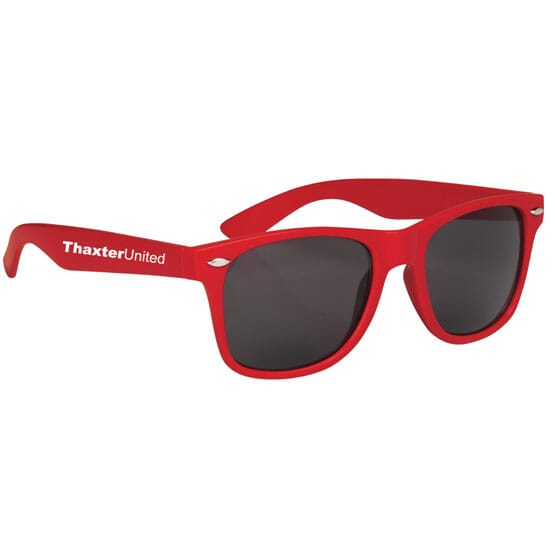 Red retro style sunglasses