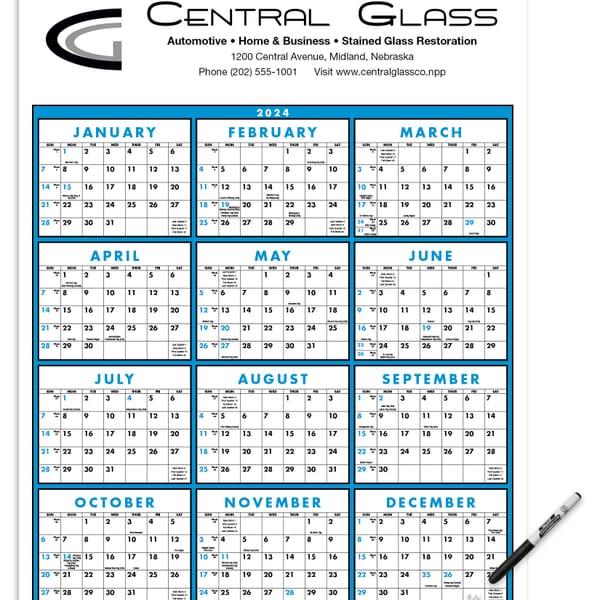 2021 Commercial Span-a-Year Calendar