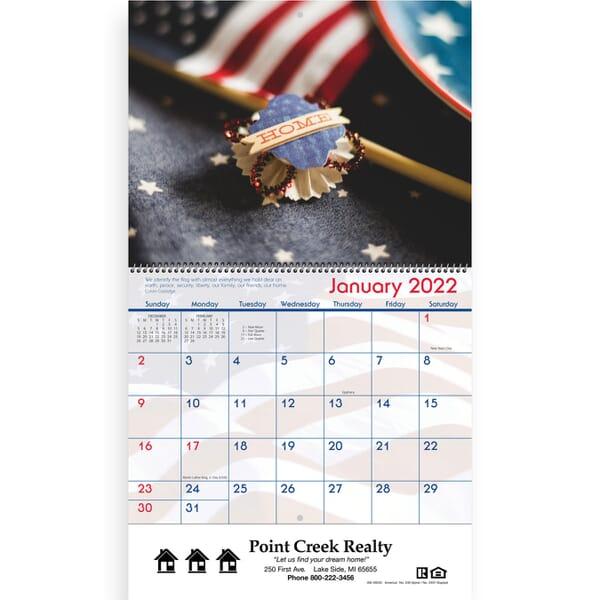 2021 America- Spiral Wall Calendar
