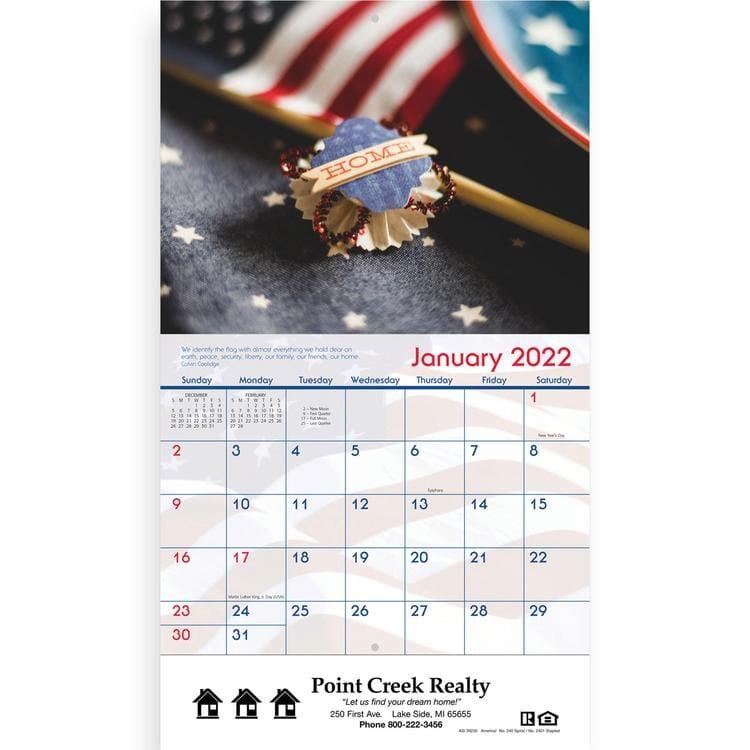 Staples Desk Calendar 2020 2020 American Staple Wall Calendar   Promotional Giveaway | Crestline