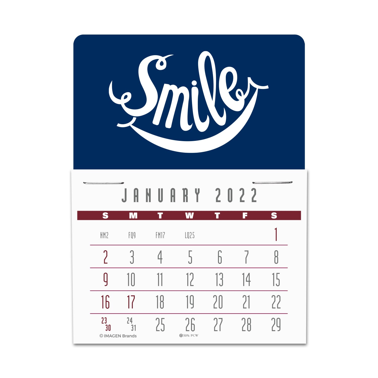 sticky mini wall calendar