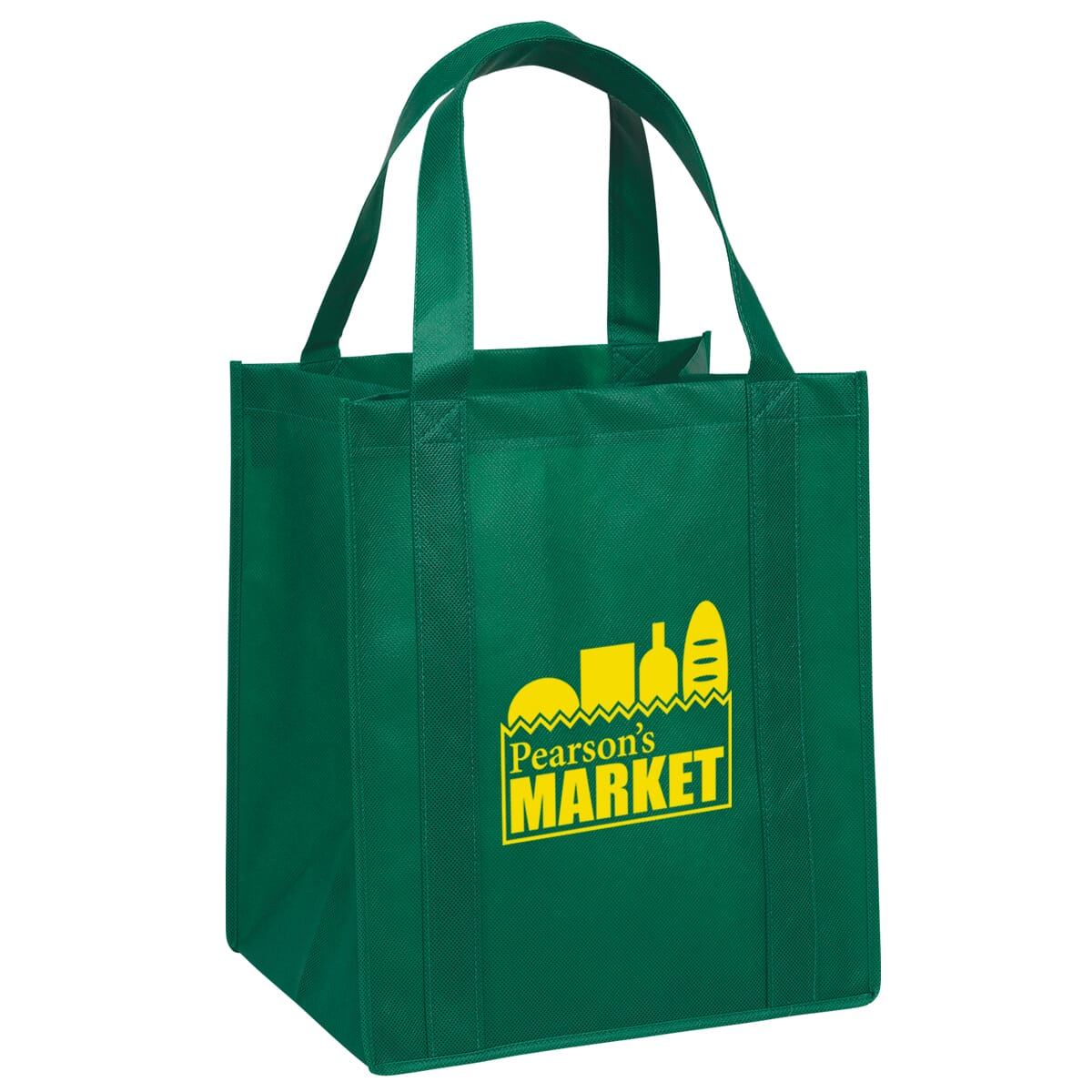 Reusable grocery tote bag with logo