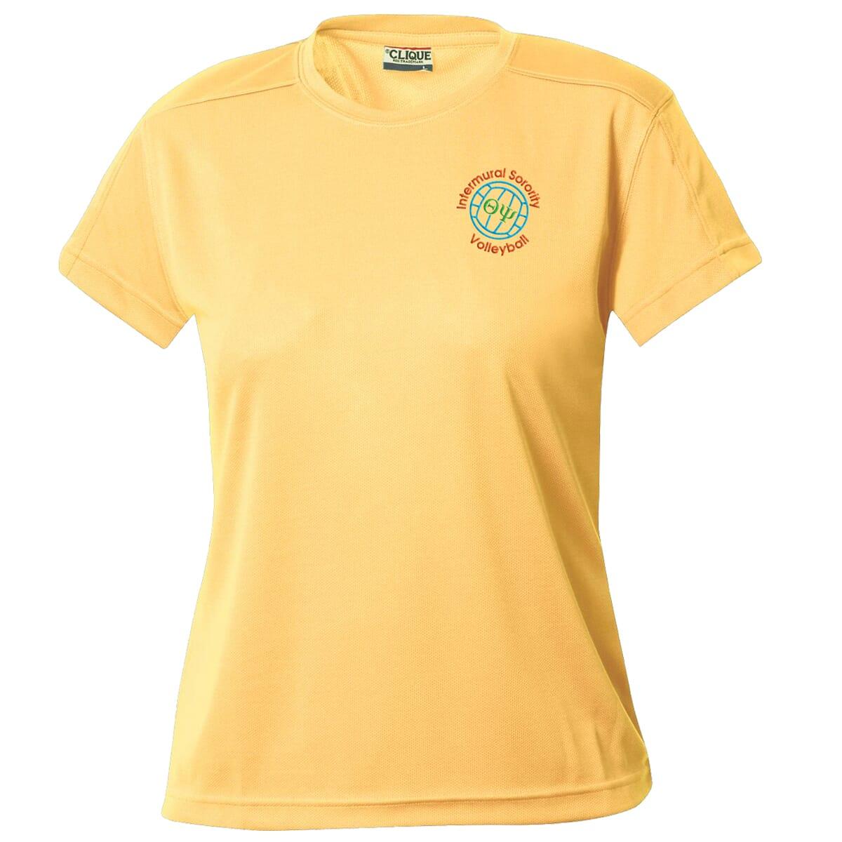 Athletic yellow t-shirt