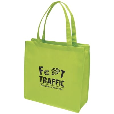 Bright green tote bag