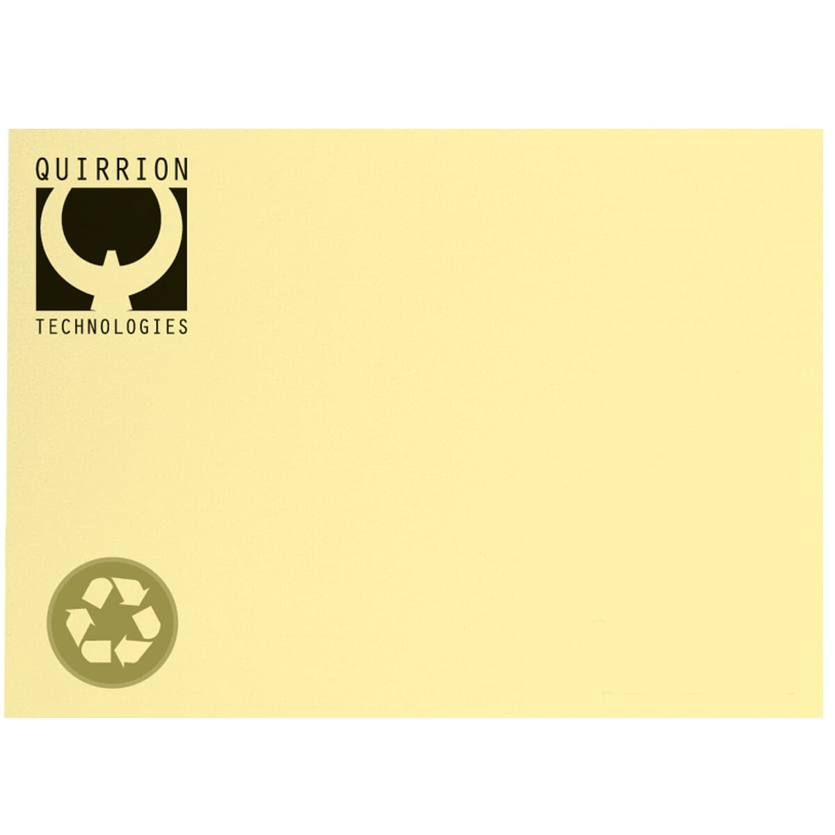 yellow recycled post-it note pad