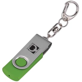 Flip Flash Keychain USB Drive 1GB
