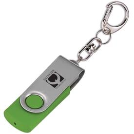 Flip Flash Keychain USB Drive 1GB