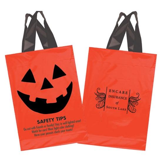 Orange and Black Plastic Jack o Lantern Bags
