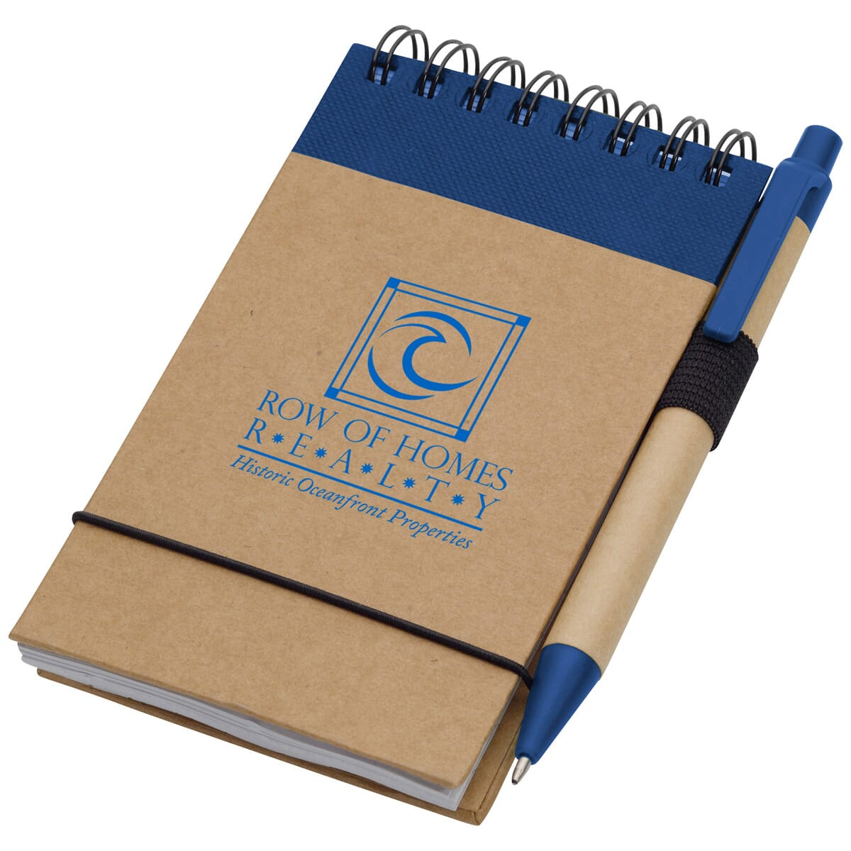 recycled jotter with pen