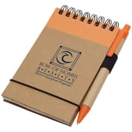 Jotter and matching pen set made of recycled material
