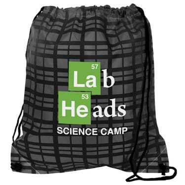 Dressy Drawstring Backpack - Plaid