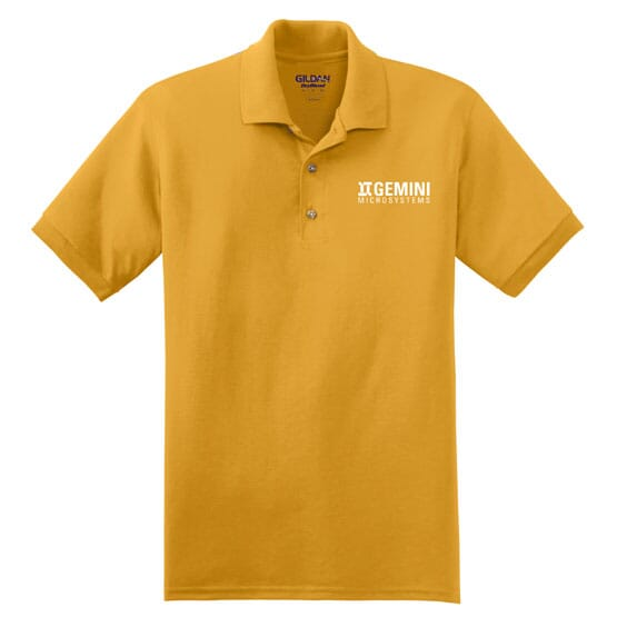 Yellow gold Gildan DryBlend jersey polo