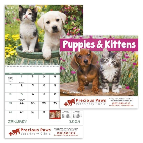 2020 Puppies & Kittens Calendar - Spiral