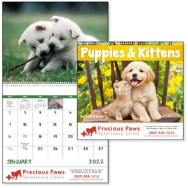 2021 Puppies & Kittens Calendar - Spiral