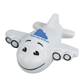 Stress Balls Smiley Plane - 24hr Service