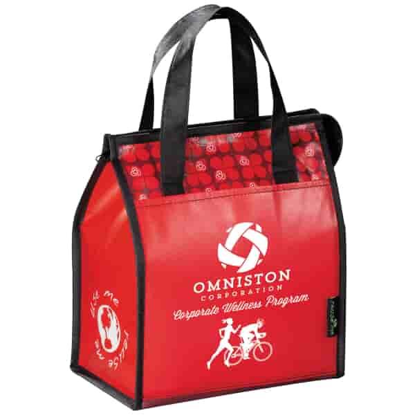 Laminated Designer Lunch Bag