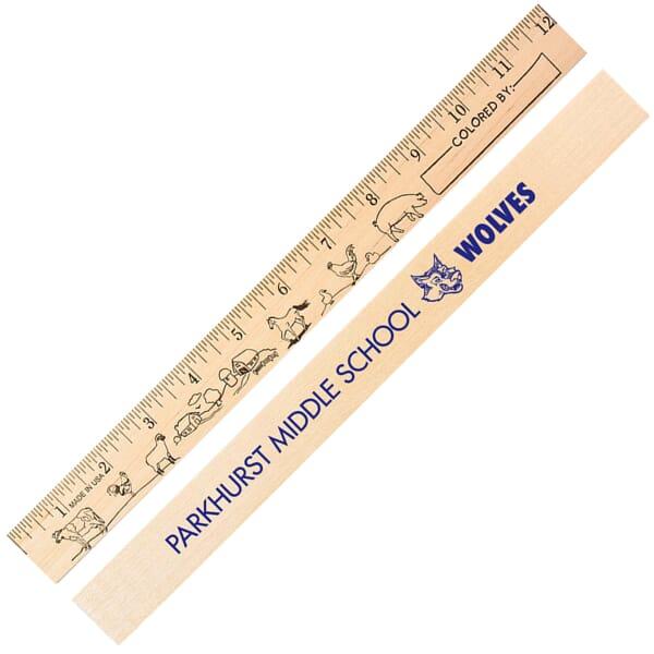 Wooden Ruler-Fun Themes