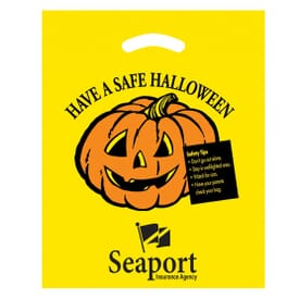 """12"""" x 15"""" Trick or Treat Plastic Bags Yellow"""