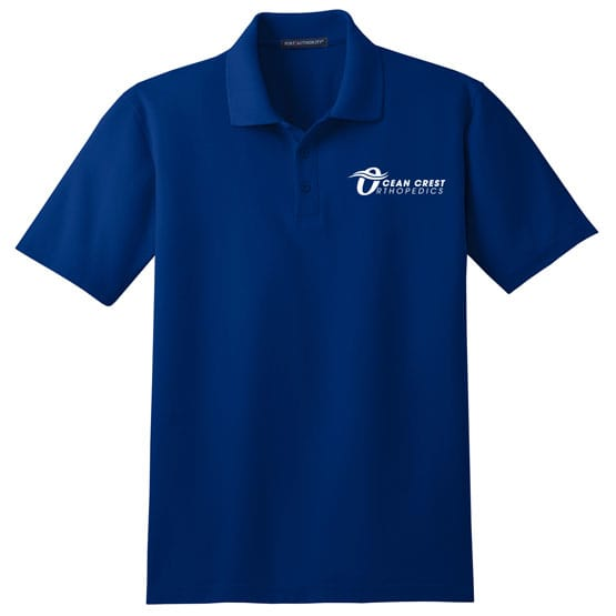 Blue Port Authority stain-resistant polo for men
