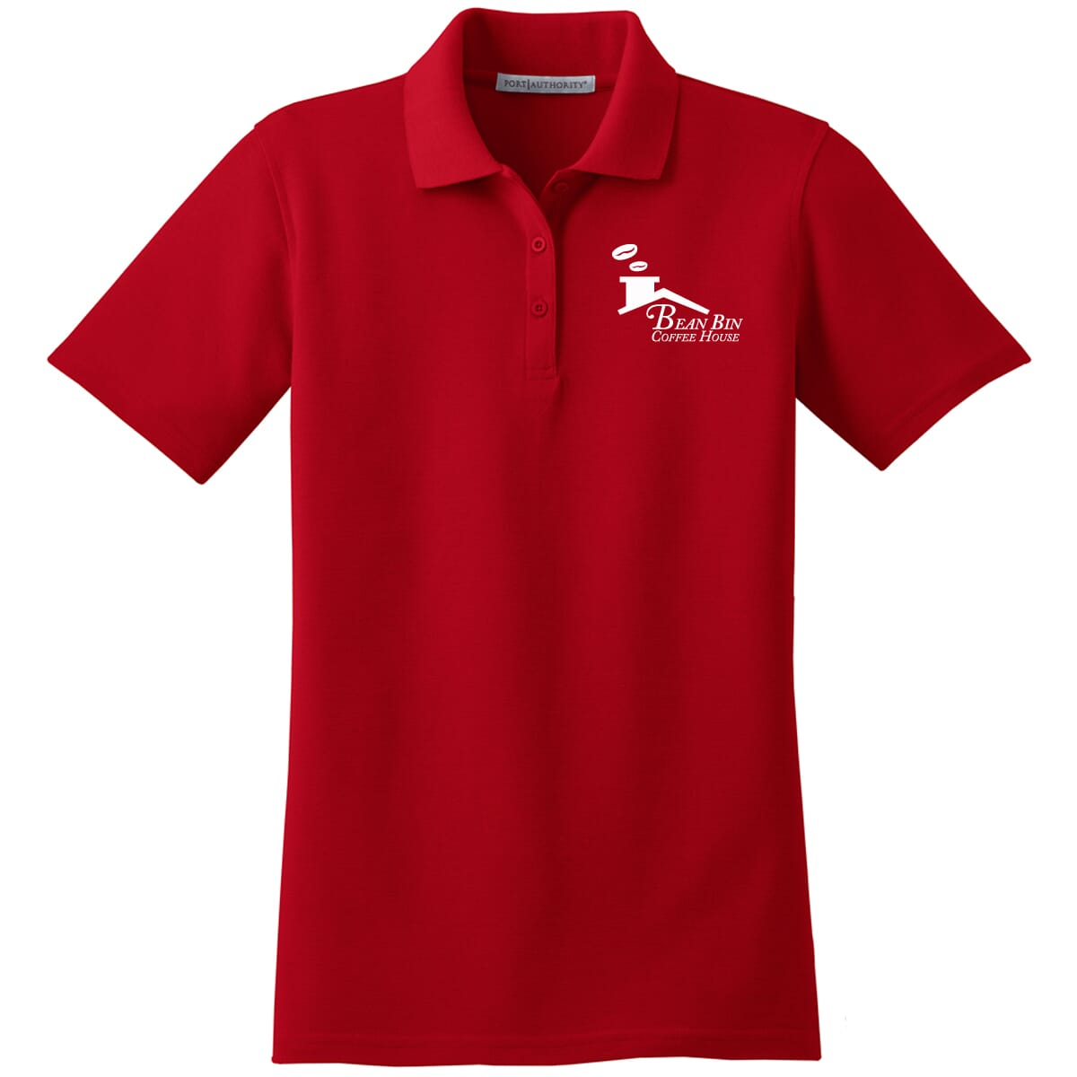Red Port Authority stain-resistant polo for women