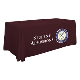 6 Foot Standard Table Throw - Full Color Front Panel