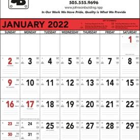 2020 Commercial Memo Calendar