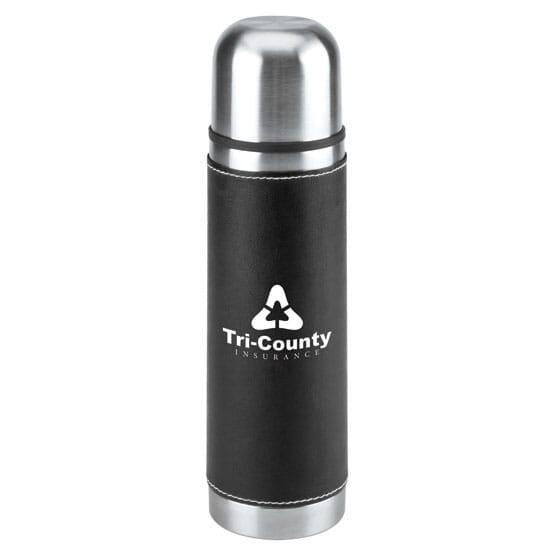 16 oz Notable Leatherette Vacuum Bottle