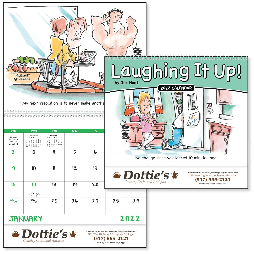 wall calendar with funny comics