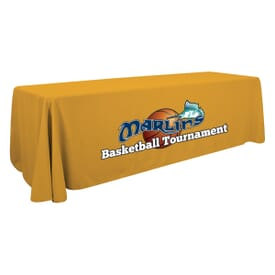 8ft Standard Table Throw - Full Color Front Panel