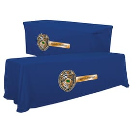 Trade Show Table Covers & Runners with Custom Logo