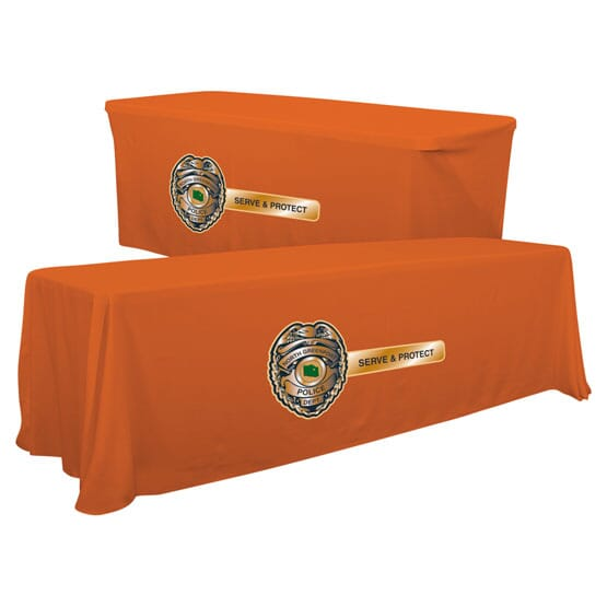 8ft Convertible Table Throw - Full Color Front Panel