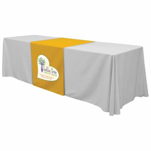 "28"" Standard Table Runner – Full Color Front Panel"