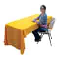 Back of table throw