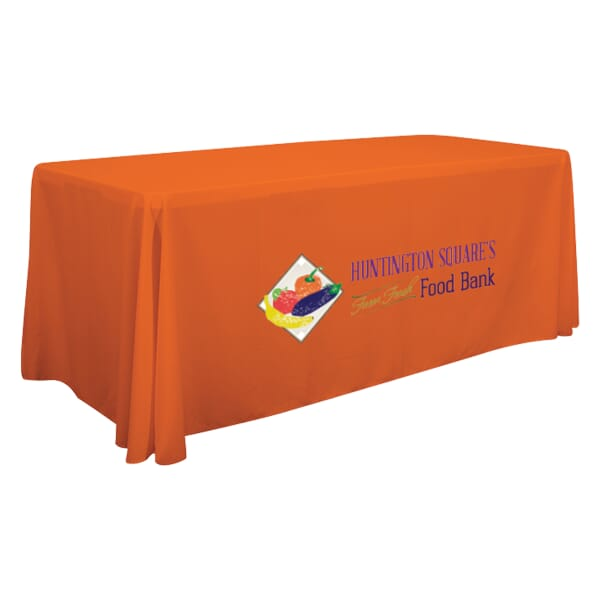 6ft Economy 3-Sided Table Throw - Full Color Front Panel