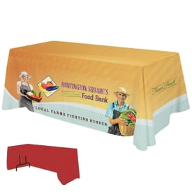 6ft Economy 3-Sided Table Throw - Full Color Dye-Sub