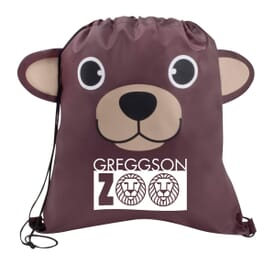 Paws 'N Claws Drawstring Backpack – Brown Bear