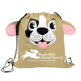 Paws 'N Claws Drawstring Backpack – Dog