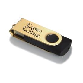 Metallic Pivot USB Drive 1GB
