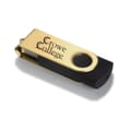 Metallic Pivot USB Drive 1GB