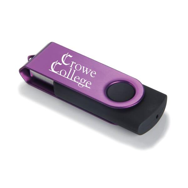Metallic Pivot USB Drive 2GB