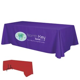 8ft Economy 3-Sided Table Throw - Full Color Front Panel