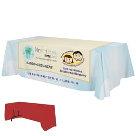 8ft Economy 3-Sided Table Throw - Full Color Dye-Sub
