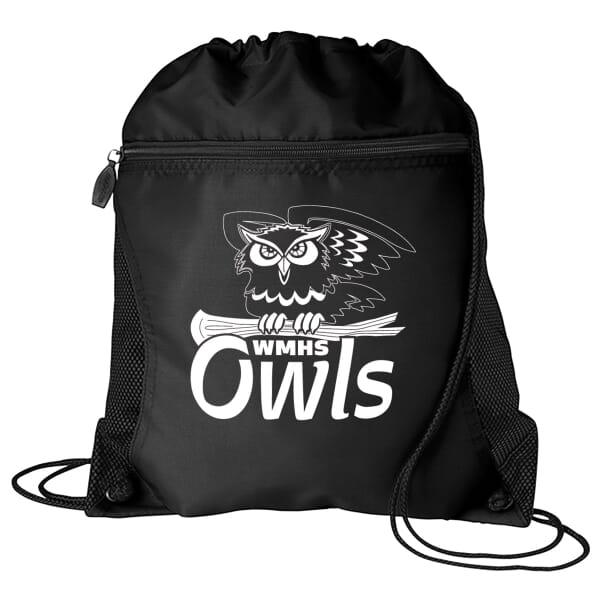 Zip-Front Drawstring Backpack 107218