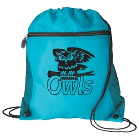 Zip-Front Drawstring Backpack