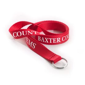 "1/2"" Polyester Lanyard w/ Split Ring"