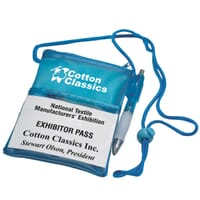 Custom Imprinted Trade Show Lanyards & Badges with Logo