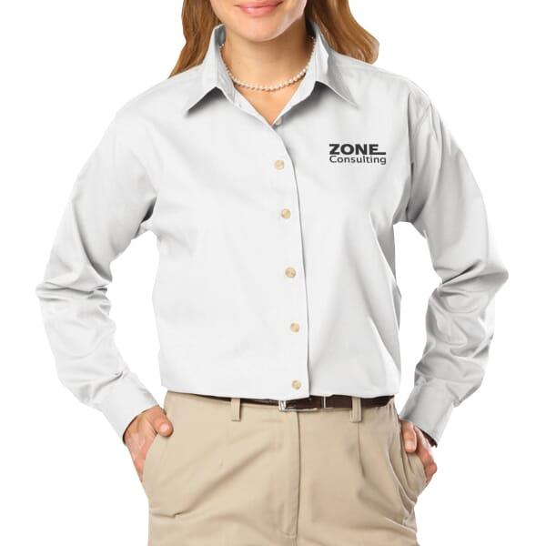 Easy Care Poplin Dress Shirt - Ladies'