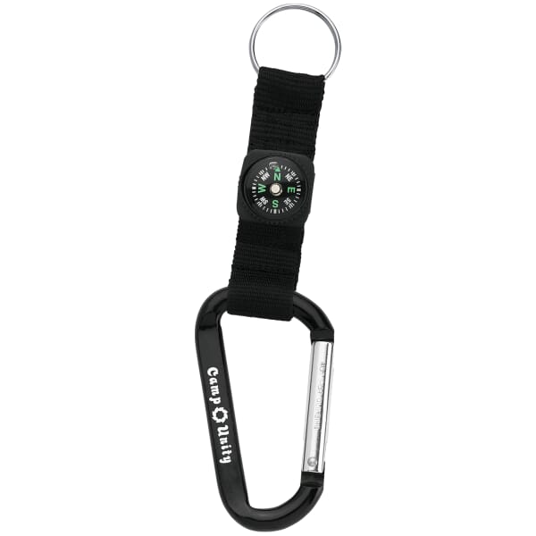 Compact Carabiner with Compass